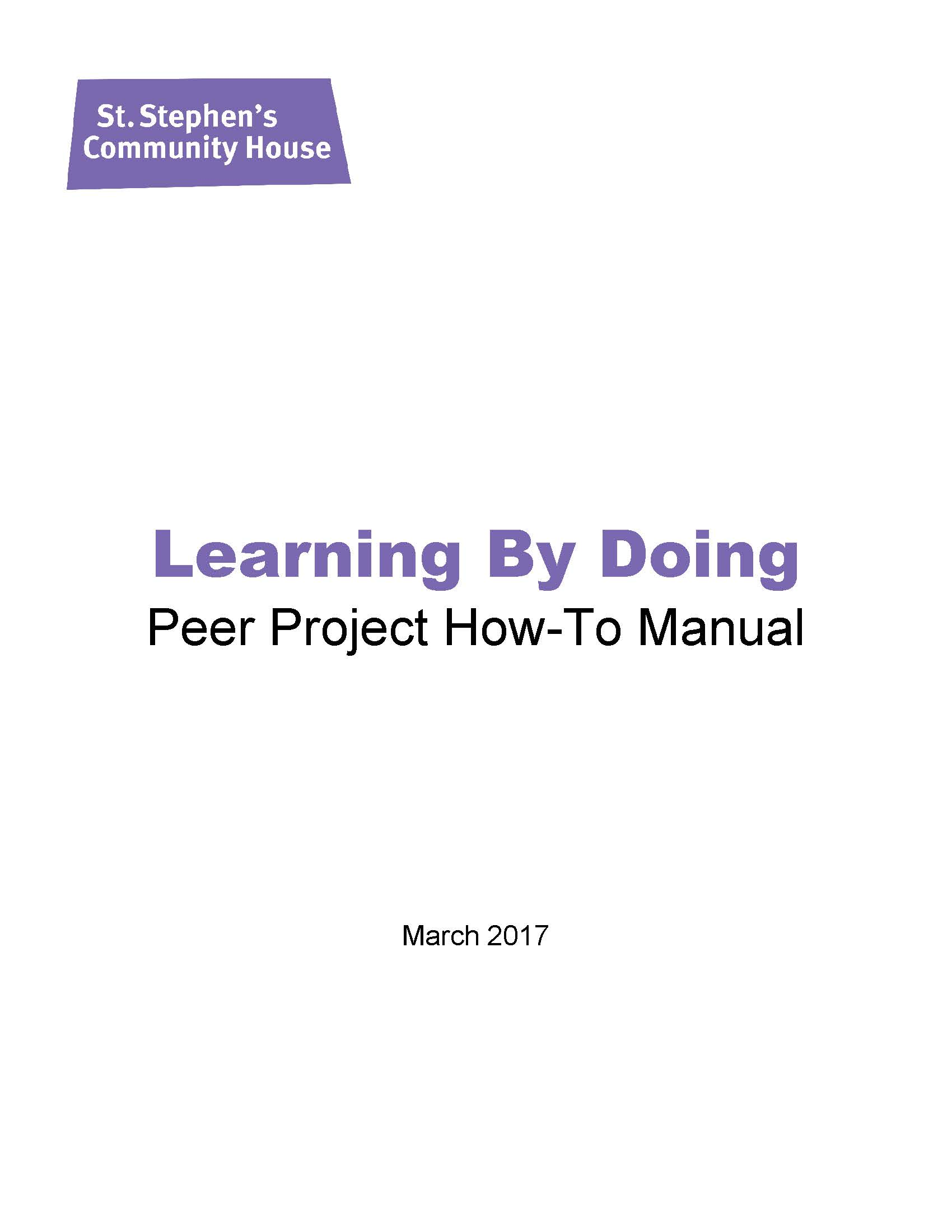 Learning By Doing - Peer Project How To Manual
