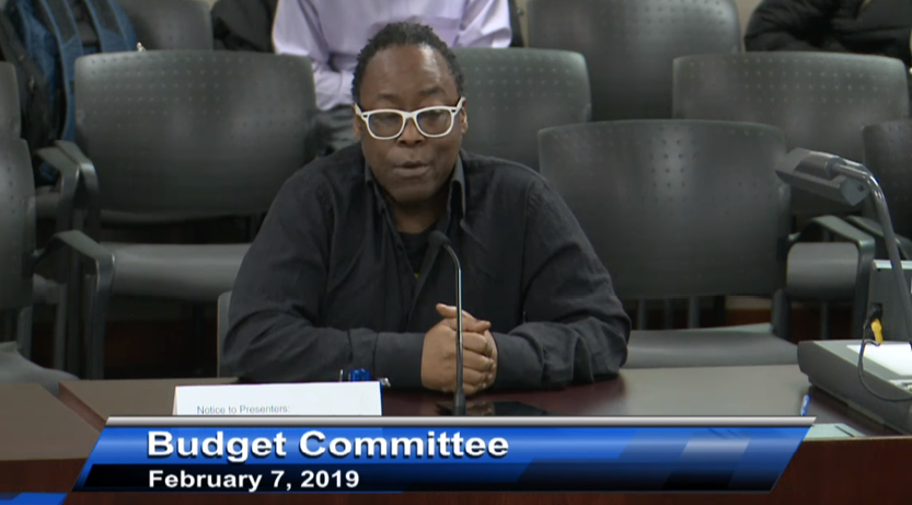 Richard R. to the City Budget Committee re mental health workers - February 2019
